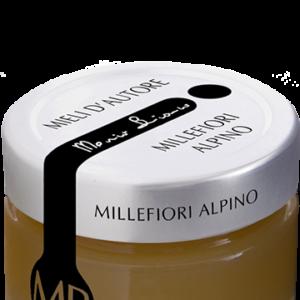 MIELE MILLEFIORI ALPINO 125 grammi © Azienda Apistica Mario Bianco di Bianco A. - via Morteo 20 - 10014 Caluso (To)